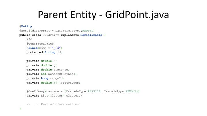 Parent Entity - GridPoint.java