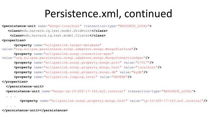 Persistence.xml