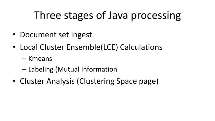 Three stages of Java processing