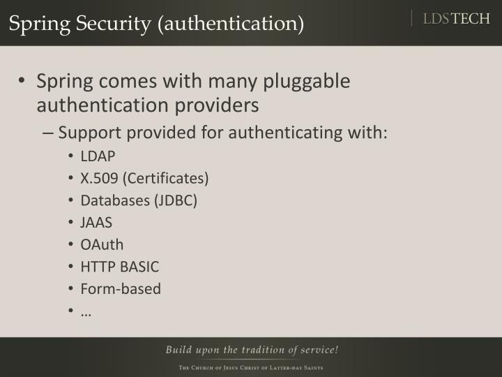 Spring Security (authentication)
