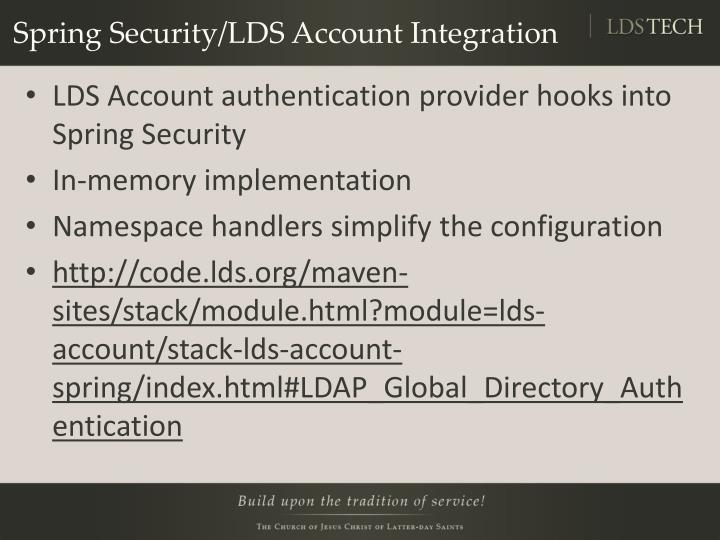 Spring Security/LDS Account Integration
