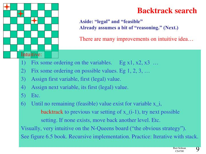 Backtrack search