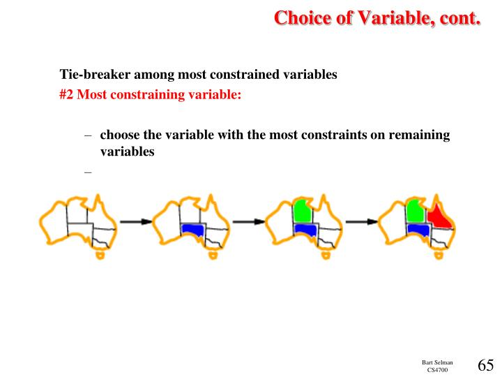 Choice of Variable, cont.