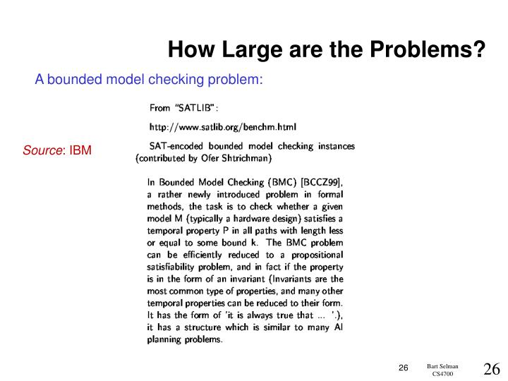How Large are the Problems?