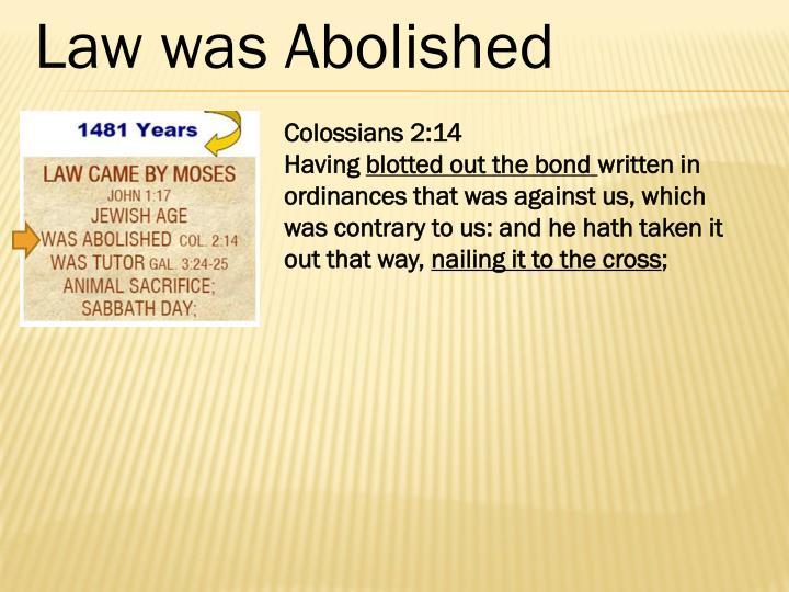 Law was Abolished