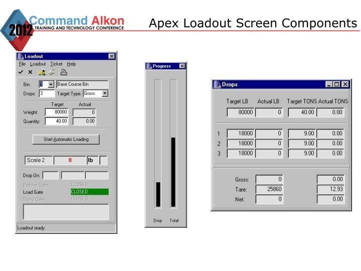 Apex Loadout Screen Components