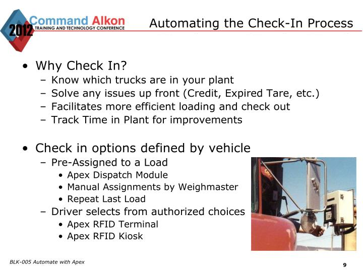 Automating the Check-In Process