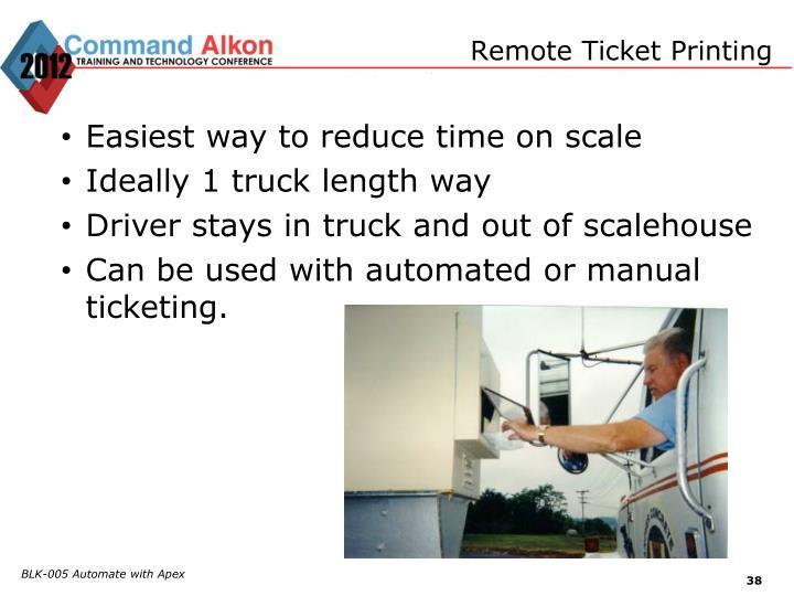 Remote Ticket Printing