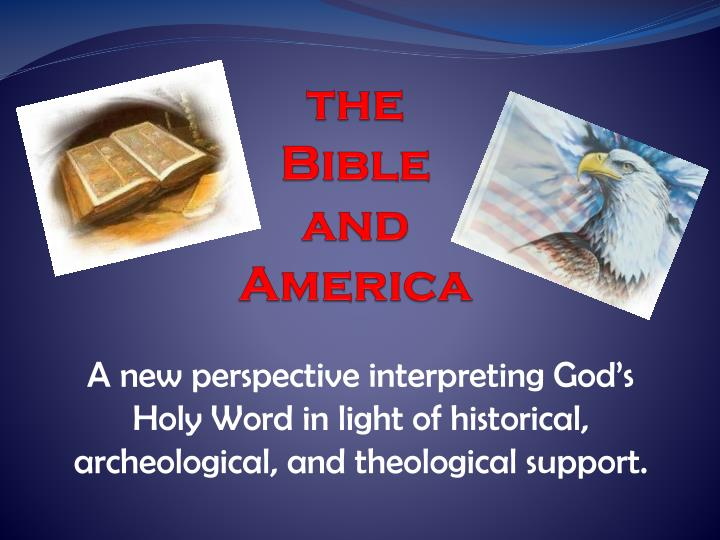 the bible and america n.