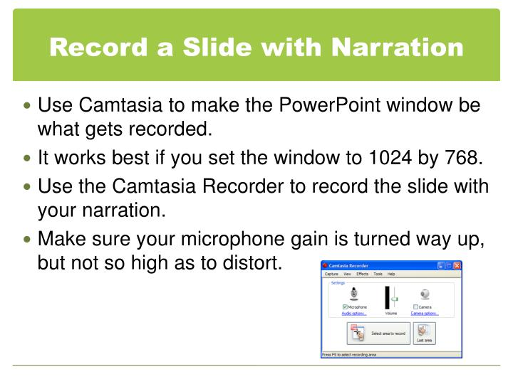 Record a Slide with Narration