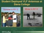 student deployed vlf antennas at siena college