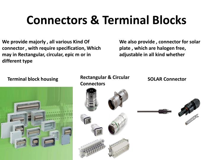 Connectors & Terminal Blocks