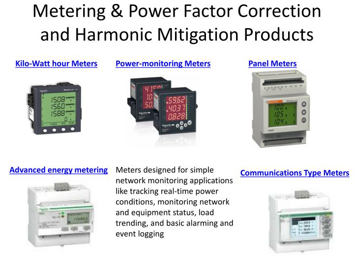 Metering & Power Factor Correction and Harmonic Mitigation Products