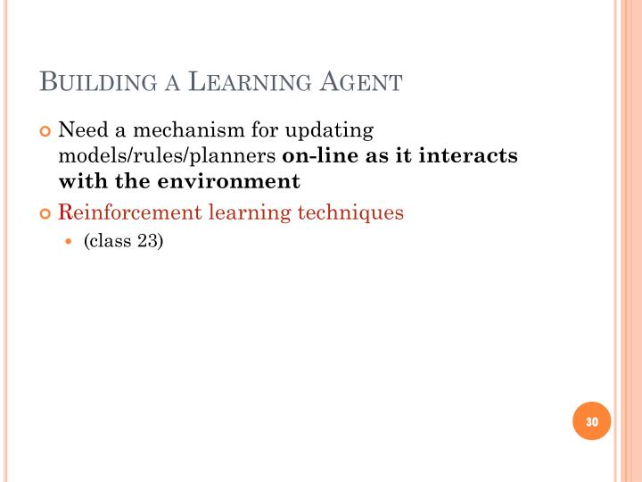 Building a Learning Agent