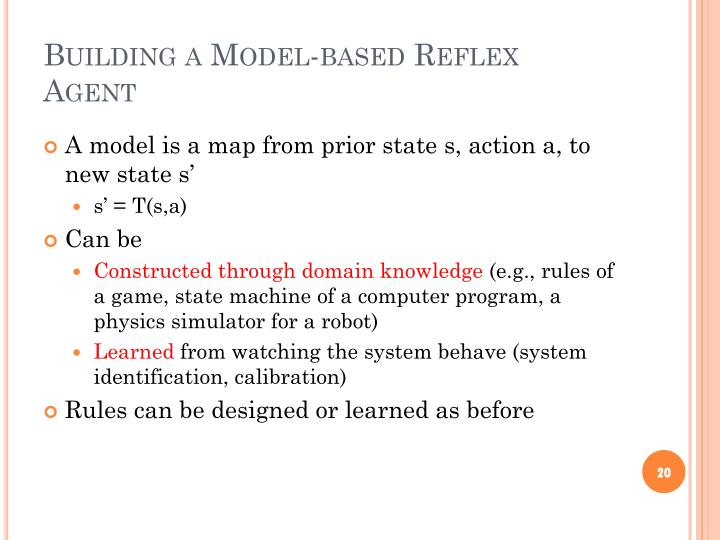 Building a Model-based Reflex Agent
