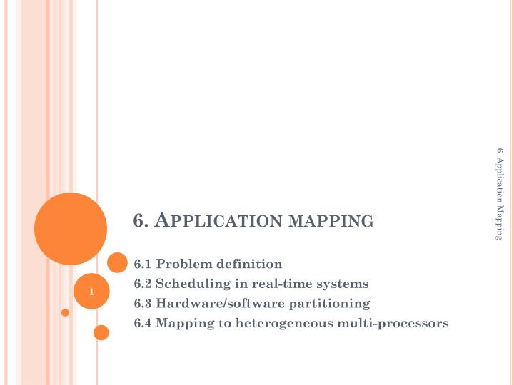 6 application mapping