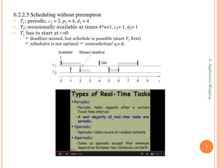 6.2.2.5 Scheduling without preemption