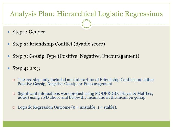 Analysis Plan: Hierarchical Logistic Regressions