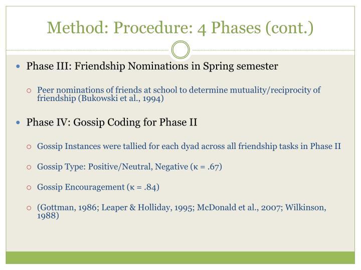 Method: Procedure: 4 Phases (cont.)