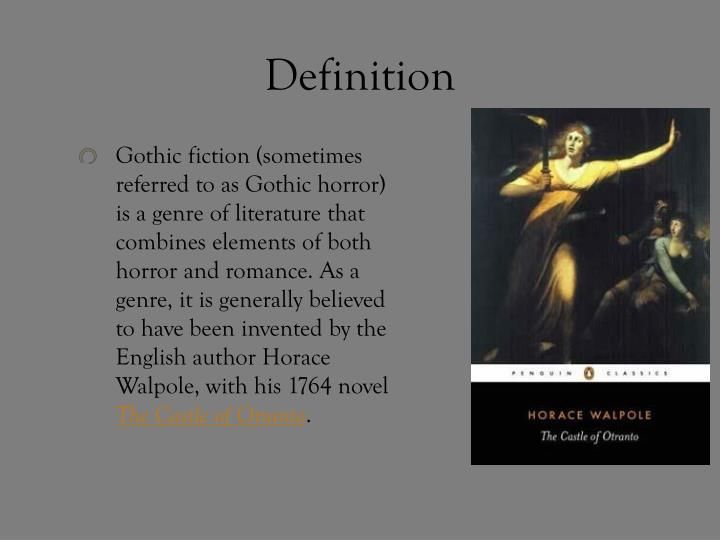 what is gothic literature definition