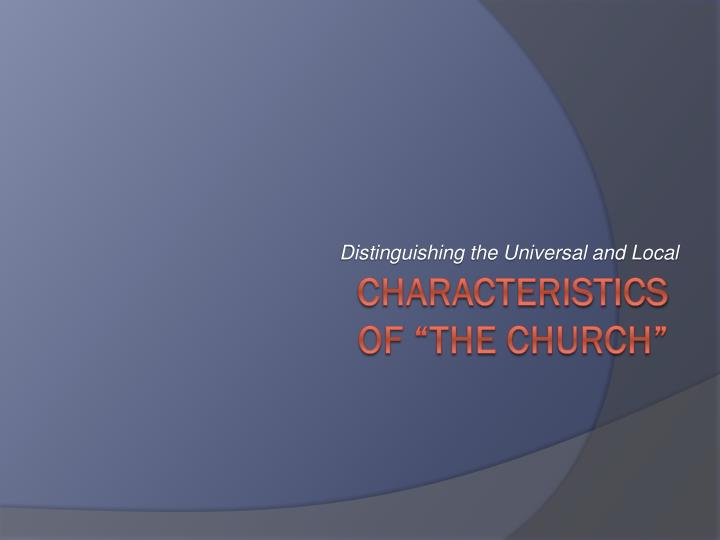 distinguishing the universal and local n.