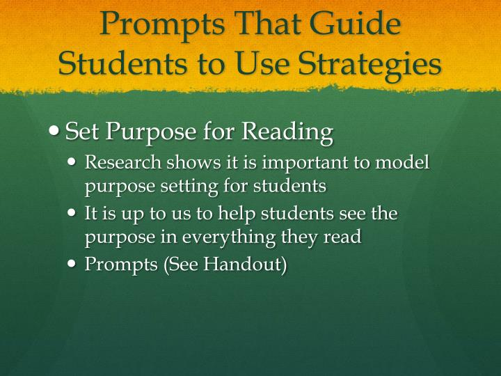Prompts That Guide Students to Use Strategies