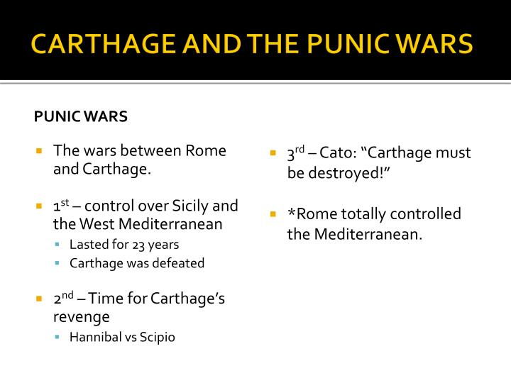 carthage and the punic wars essay