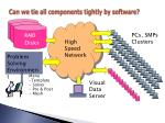 can we tie all components tightly by software