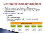 distributed memory machines
