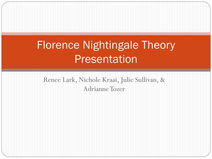 florence nightingale environment theory essay Order this essay here now and get a discount  essays we are the leading academic assignments writing company, buy this assignment or any other assignment from us and we will guarantee an a+ grade admin related posts plato and aristotle diverse works and issues read more.