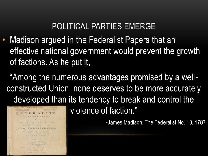 james madison factions