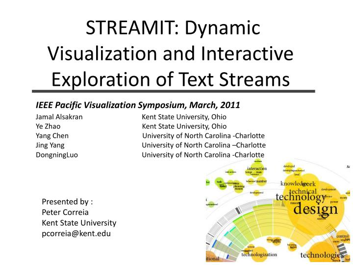 Streamit dynamic visualization and interactive exploration of text streams