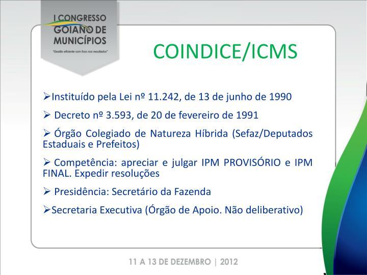 COINDICE/ICMS