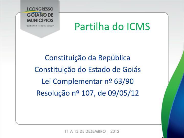 Partilha do ICMS