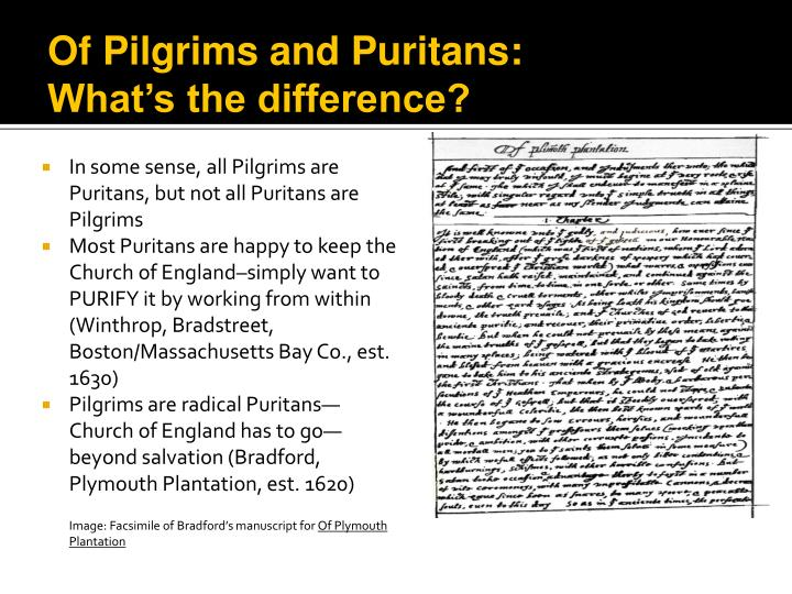 a comparison between puritan writers and early american writers An introduction to our american literature course and our first period of study, the puritans another significant difference is that the pilgrims were largely a congregation of farmers and their families, in other words, regular folk, including their leaders like their beloved pastor, john robinson the pilgrims.