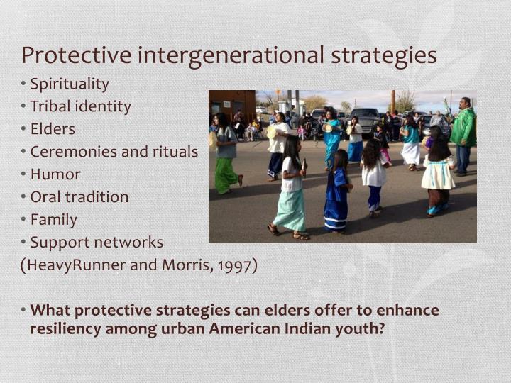 Protective intergenerational strategies