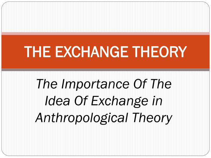 the exchange theory n.