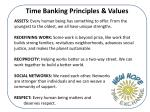 time banking principles values