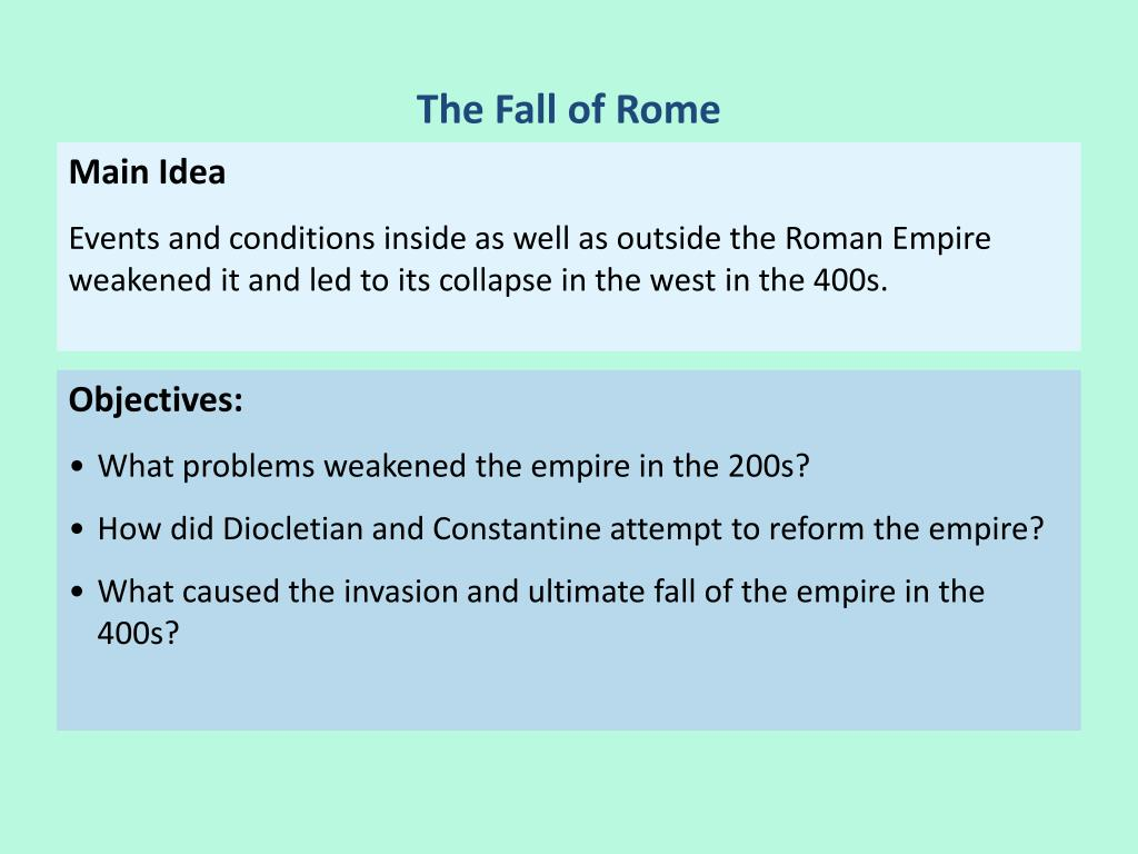 what caused the roman empire to collapse