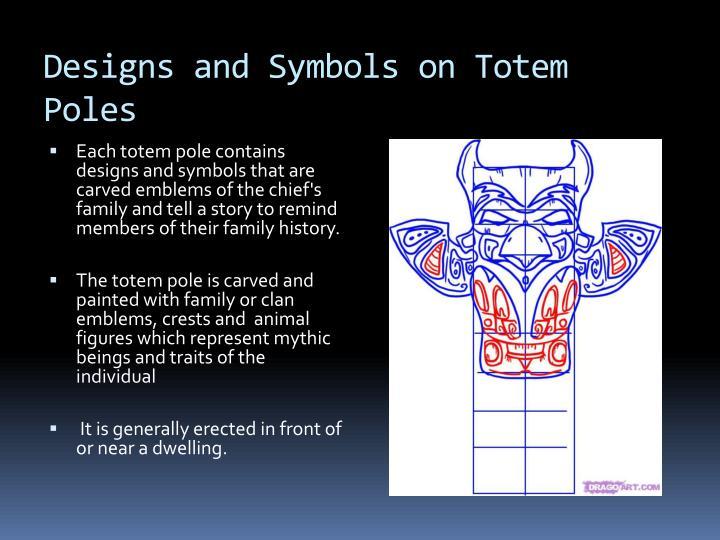 Designs and symbols on totem poles