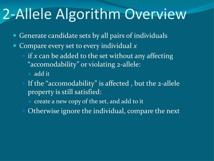2-Allele Algorithm Overview
