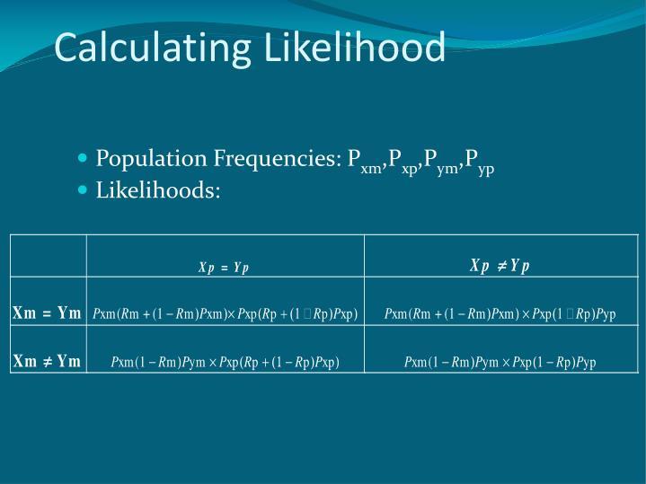 Calculating Likelihood