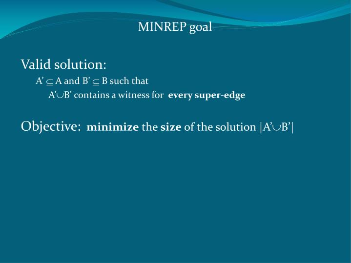 MINREP goal