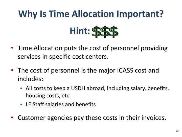 why cost allocation is important Allocation of capital in the proportion of the firm's overall cost of capital that in discussing capital allocation, it is important to keep in mind.