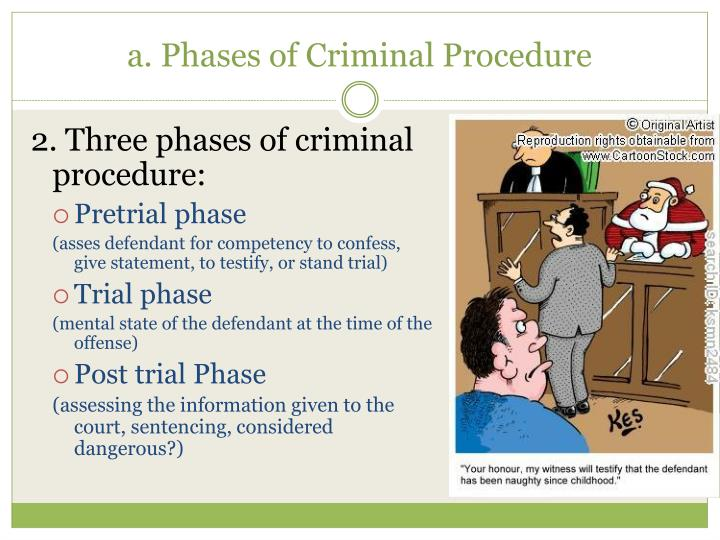 2. Three phases of criminal procedure: