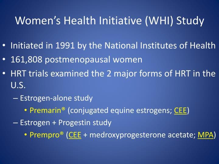 Whi estrogen alone study abroad