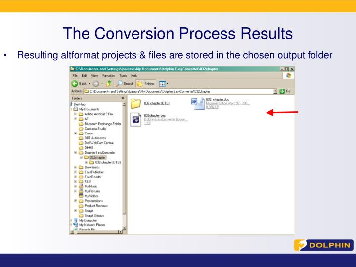 The Conversion Process Results
