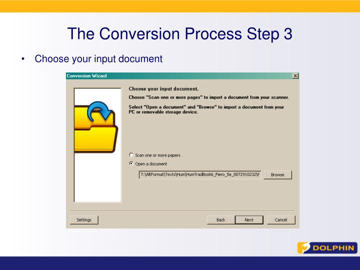 The Conversion Process Step 3