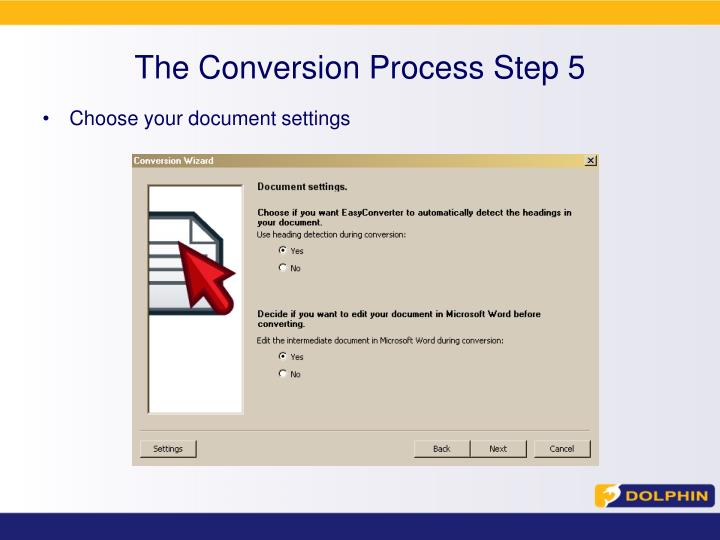 The Conversion Process Step 5