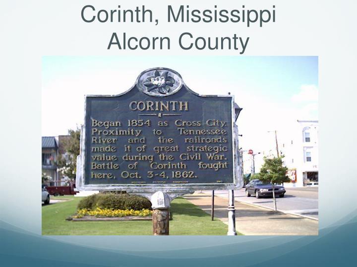 Corinth mississippi alcorn county